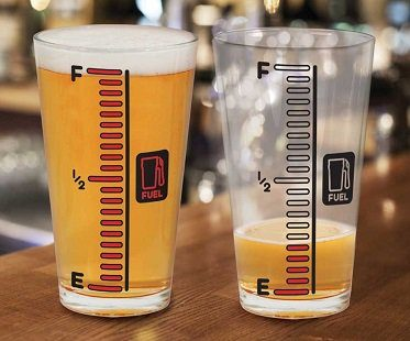 cold changing beer gauge glass