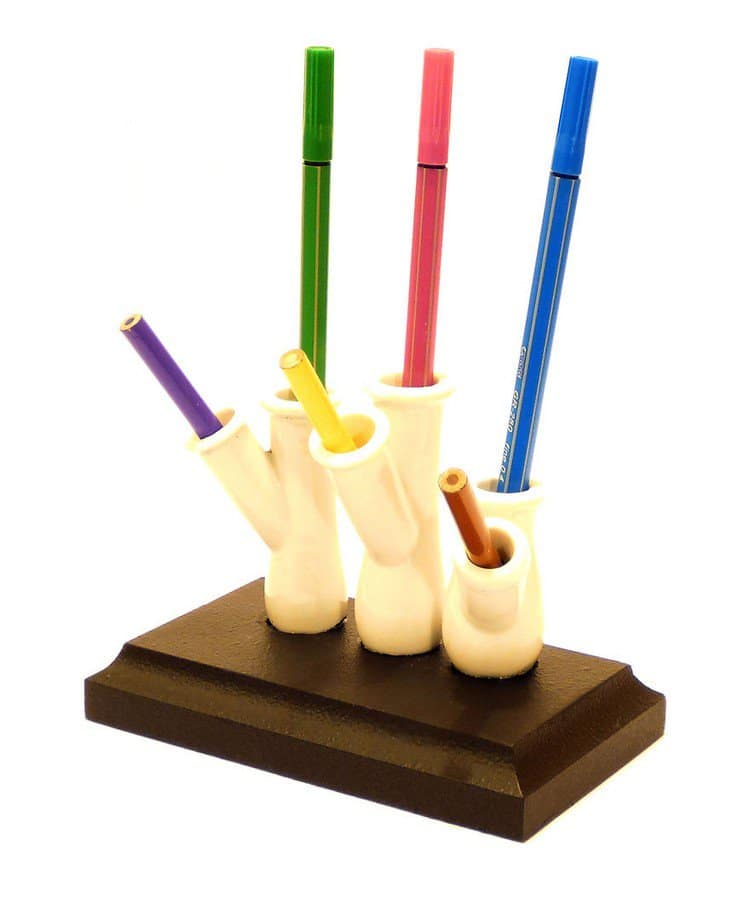 colorful pencils stand