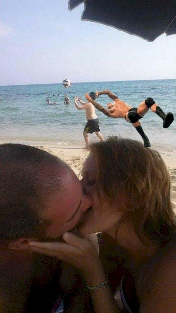 couple kissing boy wrestler