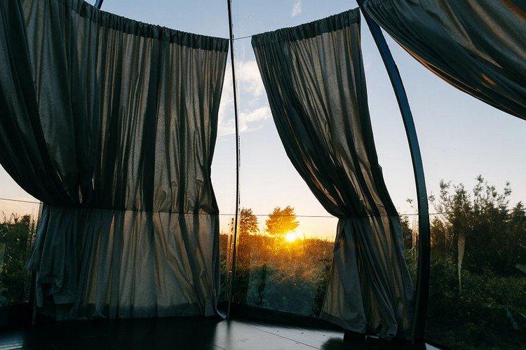 curtains dome sun