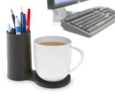 desk coaster with pen holder