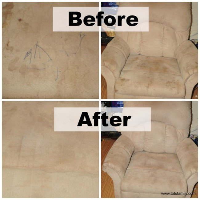 dirty sofa clean sofa