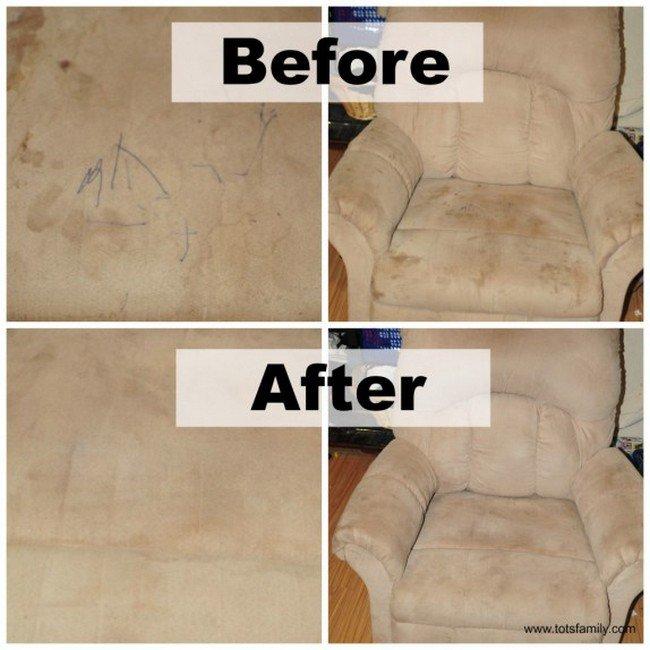 dirty sofa clean sofa