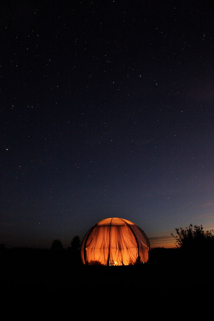 dome illuminated night