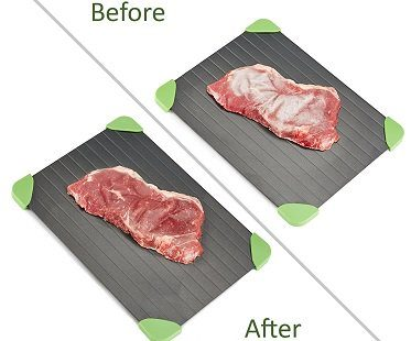 fast defrosting tray before after