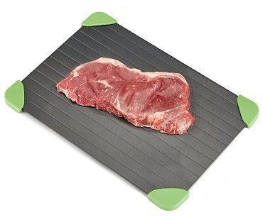 fast defrosting tray meat
