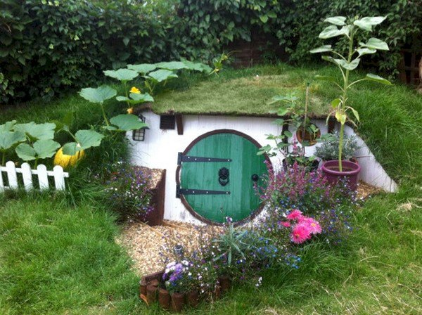 finished hobbit house