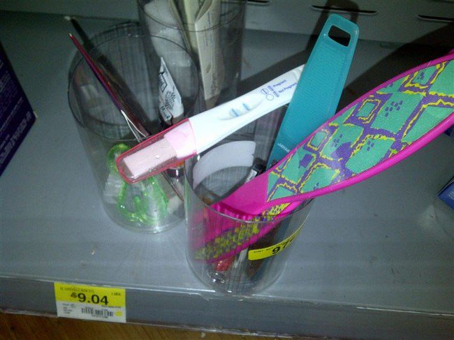 foot files pregnancy test walmart