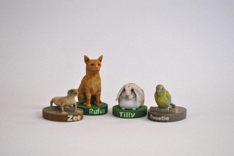 four 3d pets