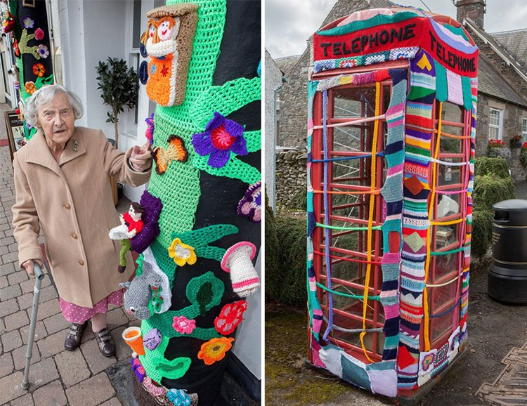 grace-brett-104-year-old-yarn-bomber-phone-box