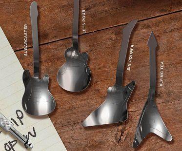 guitar tea spoons