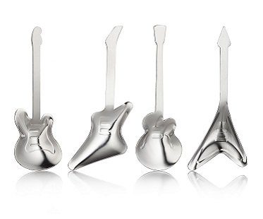 guitar tea spoons cutlery