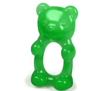 gummy bear teether green