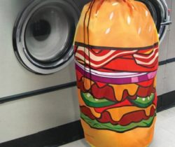 hamburger laundry hamper