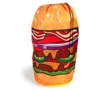 hamburger laundry hamper nylon