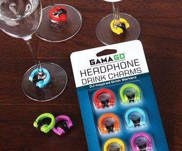 headphone drink markers charms wine