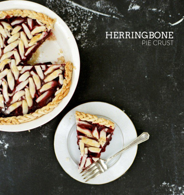 herringbone pie crust