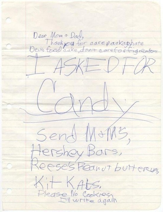 i asked for candy note