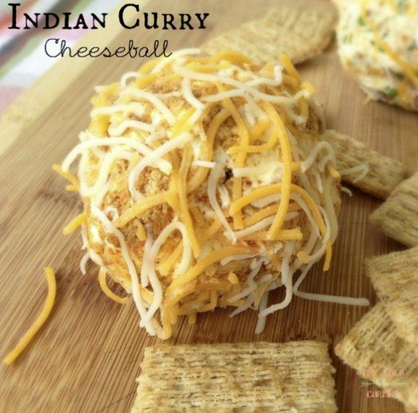 indian curry cheeseball