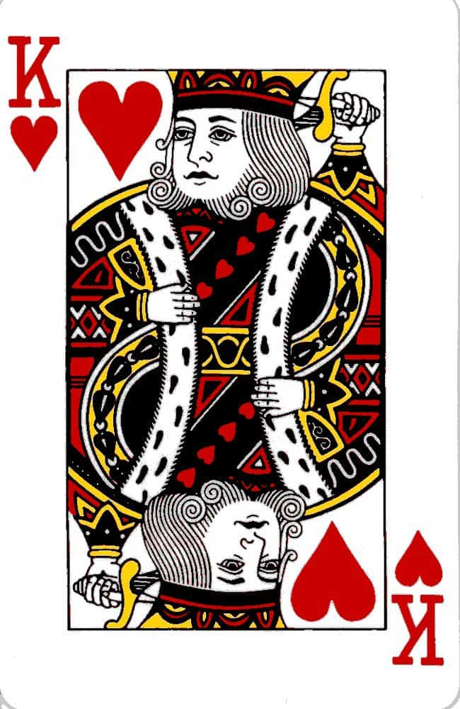 king of hearts no mustache awesome facts