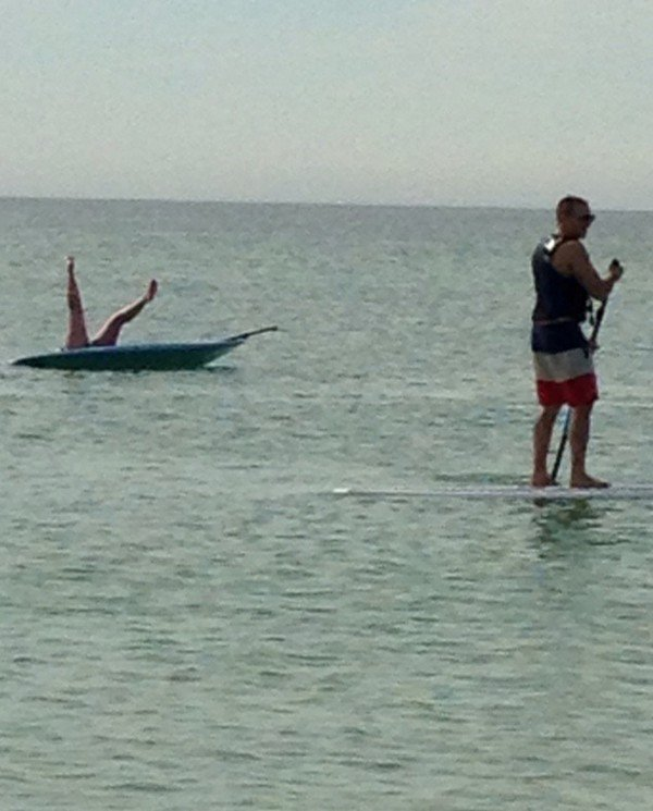 legs board water