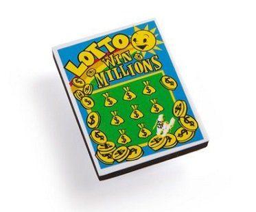 lotto ticket nail buffer file