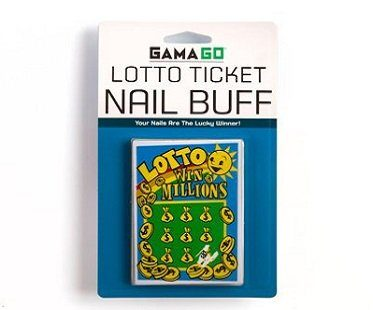 lotto ticket nail buffer pack