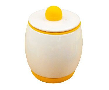 microwave egg cooker yellow white