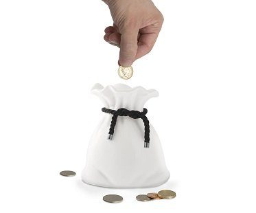 money bag coin bank
