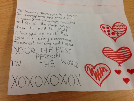 mummy best person letter