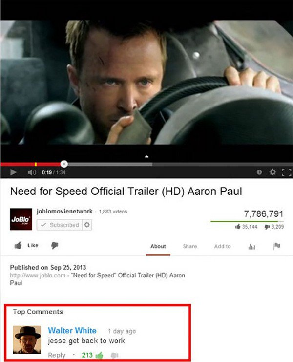 Image of: Very Funny Need For Speed Jesse Medium Hilarious Youtube Comments You Need To Read