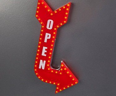 open sign bottle opener