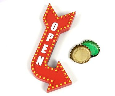 open sign bottle opener red