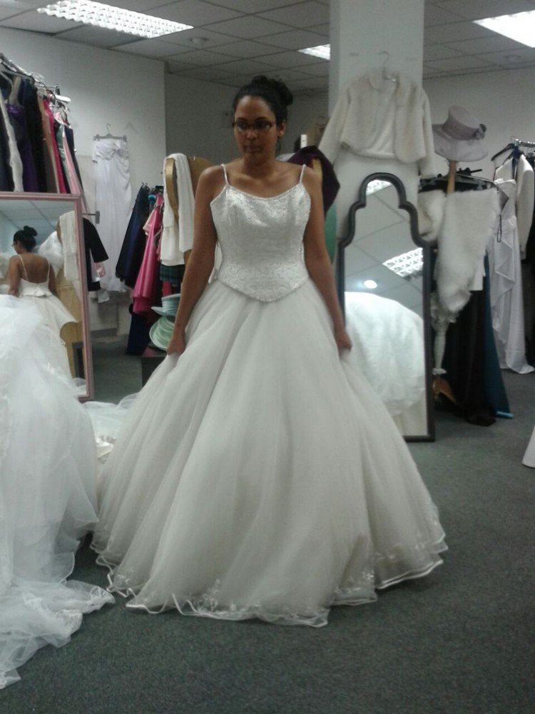 See how one bride transformed a thrift store wedding dress for Thrift shop wedding dresses