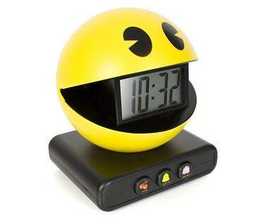 pac-man alarm clock side