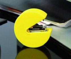 pac-man stapler yellow