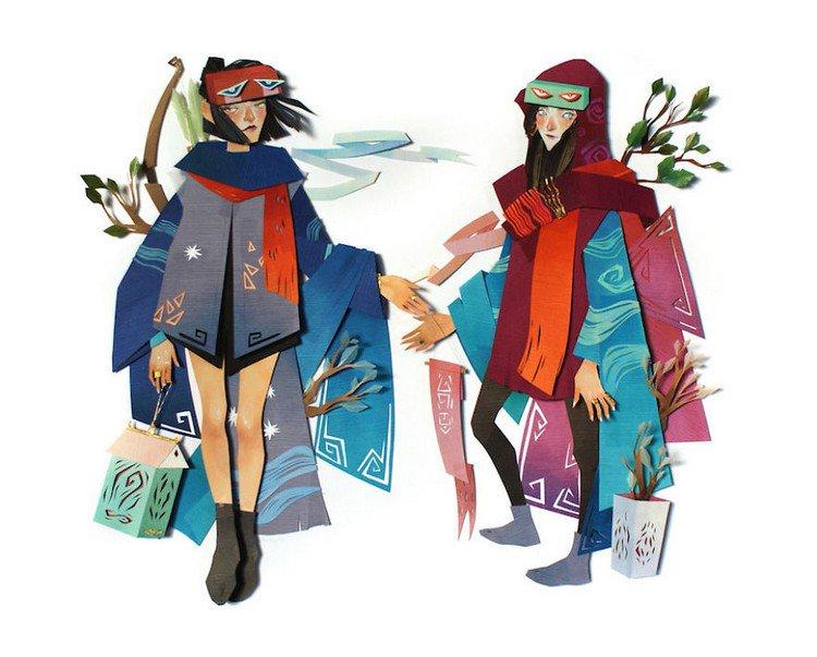 pair paper females