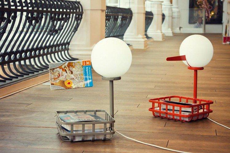pair stork lamps