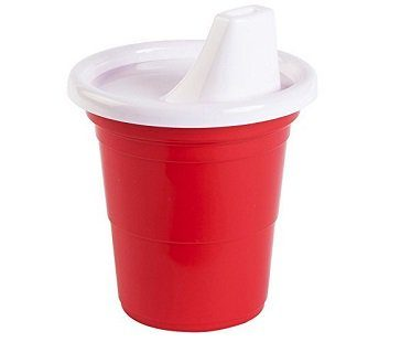 party cup sippy cup red