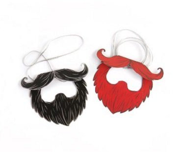 party paper beards red