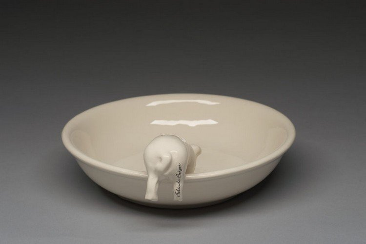 pig cereal bowl back