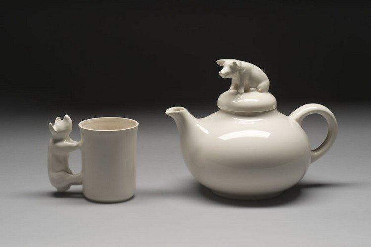 pig mug teapot