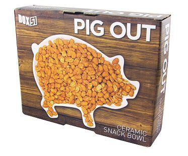 pig snack dish box