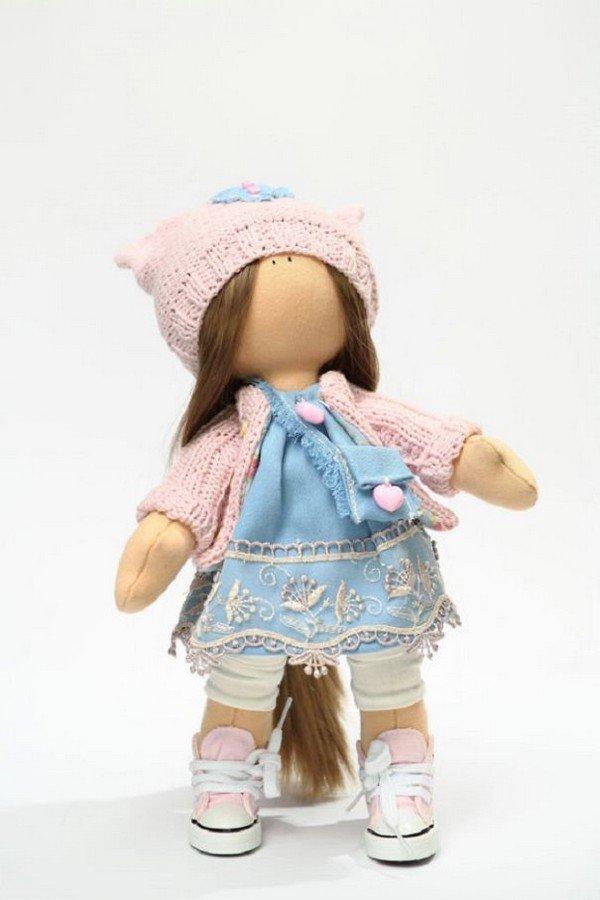 pink blue doll