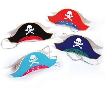 pirate party hats colours