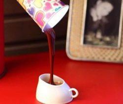 poured coffee night light