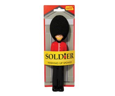 queen's guard washing up sponge soldier pack