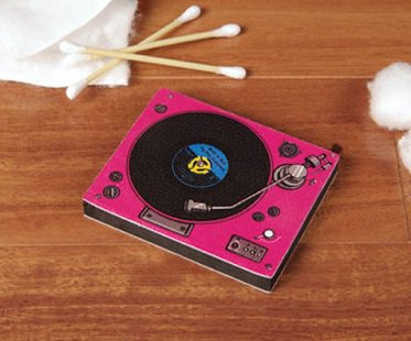 Record Player Nail Buffer Pink