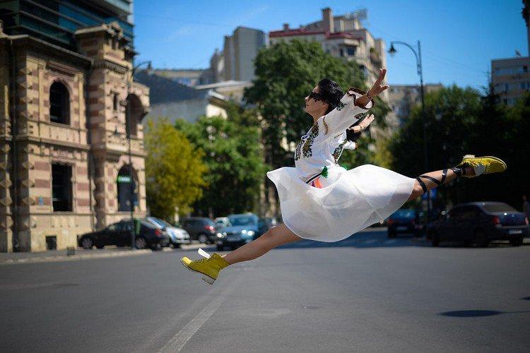 romanian ballerina leaping