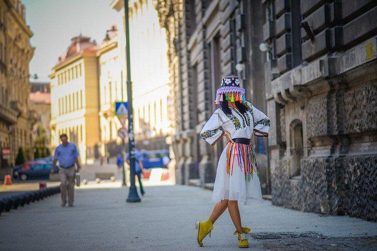 romanian ballerina posing street